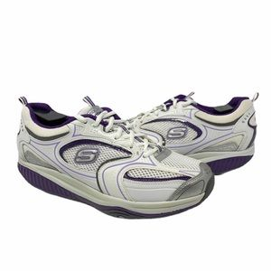 Skechers Shape Ups XF shoes white purple size 9.5